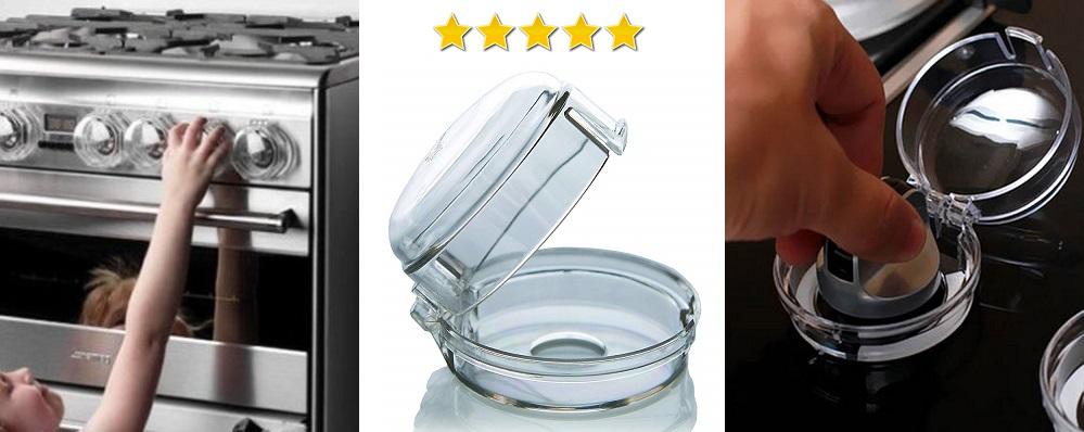 Clippasafe, protector para perillas de cocina y horno niños, cierre de seguridad para perillas de cocina niños y bebes