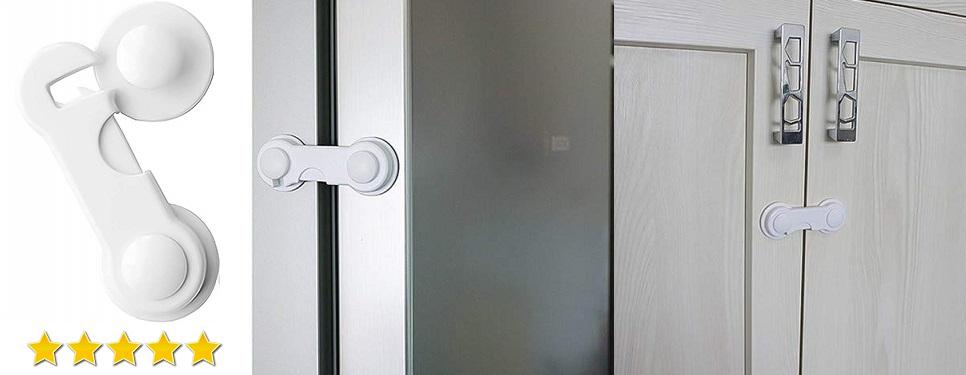 Protector para Puerta Armario Cajón Nevera Cierres de Seguridad para Bebé con Extra Fuerte 3M Adhesivo