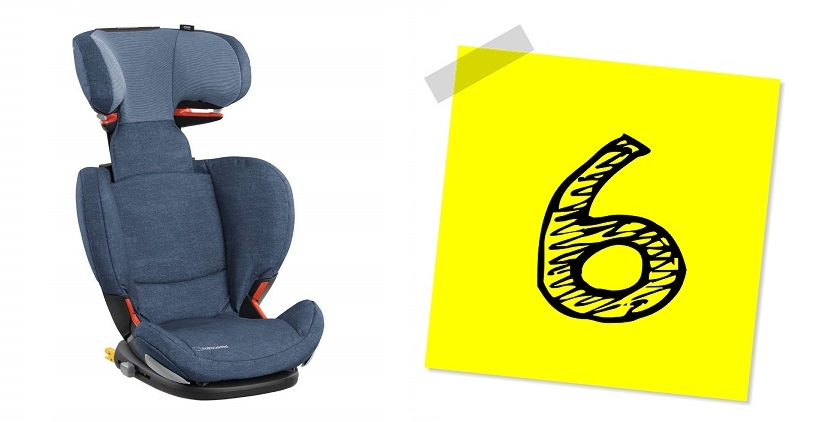 Silla de auto para niños de 15 a 36 kg (3,5 a 12 años)