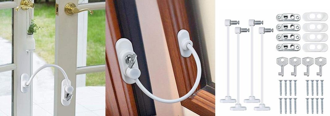 Cierre de Seguridad de Niños ventanas y puertas, traba para ventanas niños, seguro de ventana niños