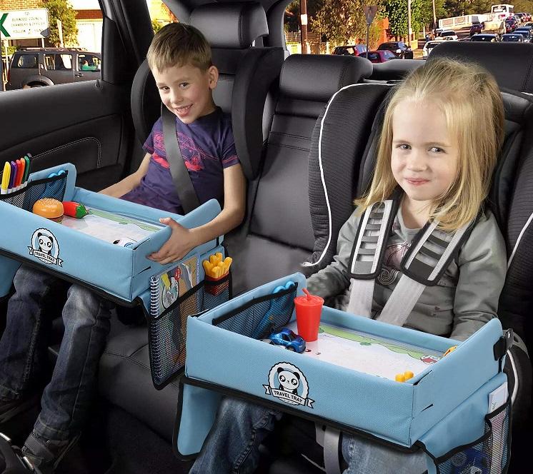 mesa bandeja de viaje para niños, mesa para pintar en el coche, bandeja de viaje para niños el corte ingles