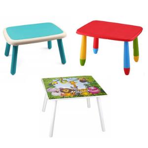 Kiddi Style Mesa y Sillas Infantiles Madera Par Ninos Dise/ño de ceras de colores